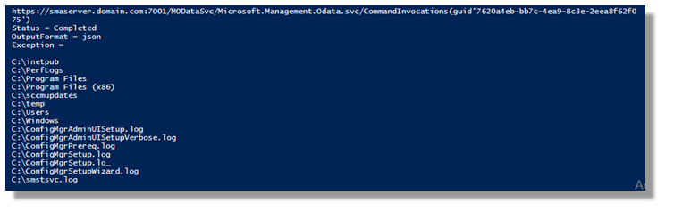 Calling PowerShell Modules with the REST / ODATA IIS Server