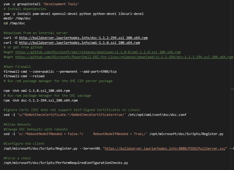 PowerShell DSC – Pull Mode, RHEL7 Linux Client | Laurie