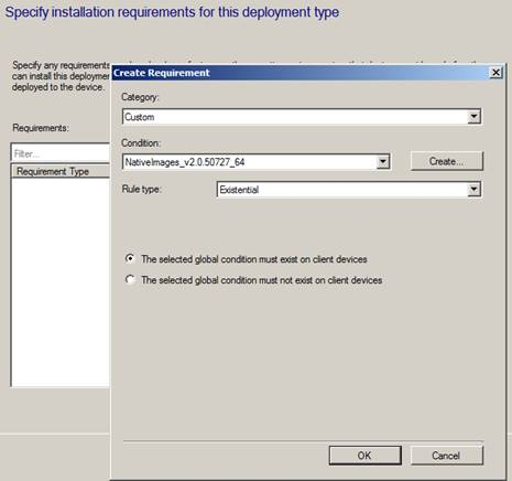 sccm different deployment type in one application